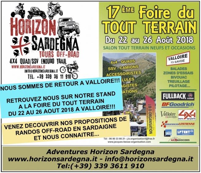 HORIZON SARDEGNA A VALLOIRE - 22/26 AOUT 2018