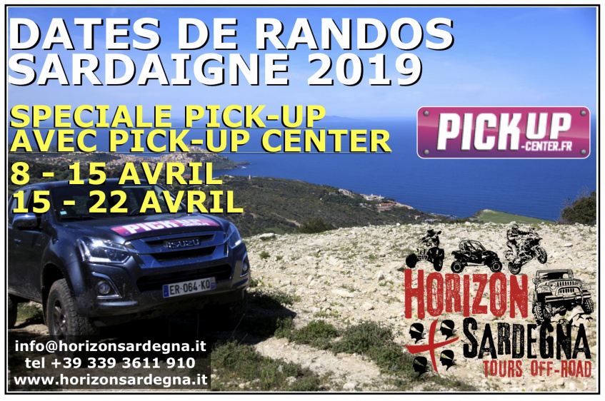 RANDO SPECIAL PICK UP - 15/22 AVRIL 2019