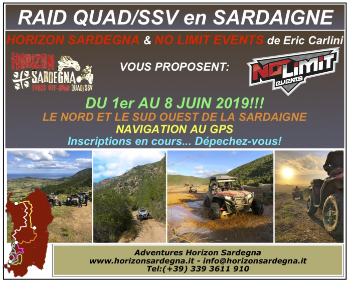RAID QUAD/SSV - PILOTAGE AU GPS - 1/8 juin 2019