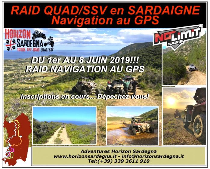 RAID QUAD/SSV - PILOTAGE AU GPS