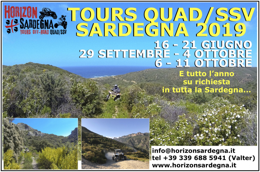 Quad/SSV Tour from 9 to 14 September