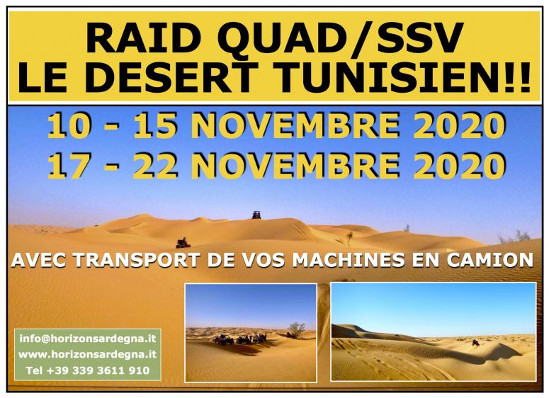 Raid Quad et SSV - Tunisie 2020