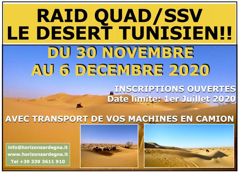 New!!! Raid Quad/SSV in Tunisia