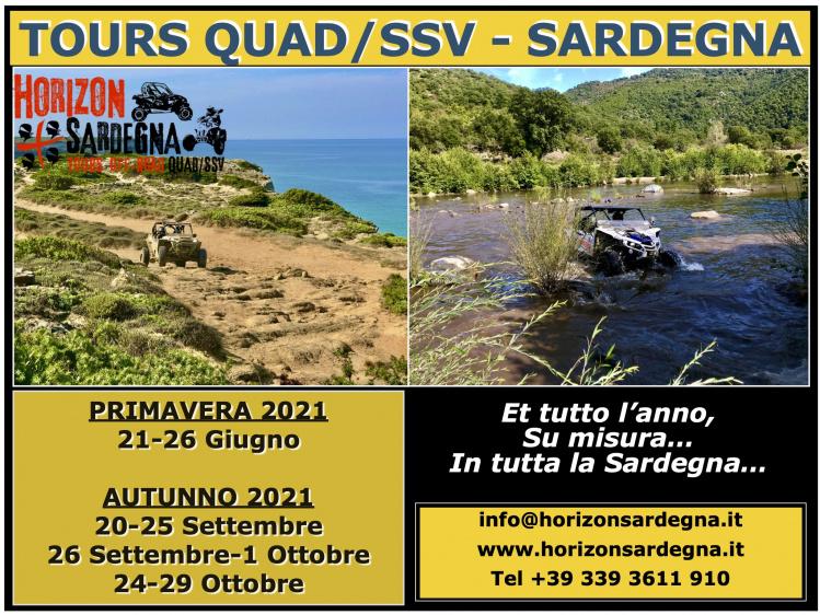 TOUR QUAD/SSV SARDEGNA - 2021